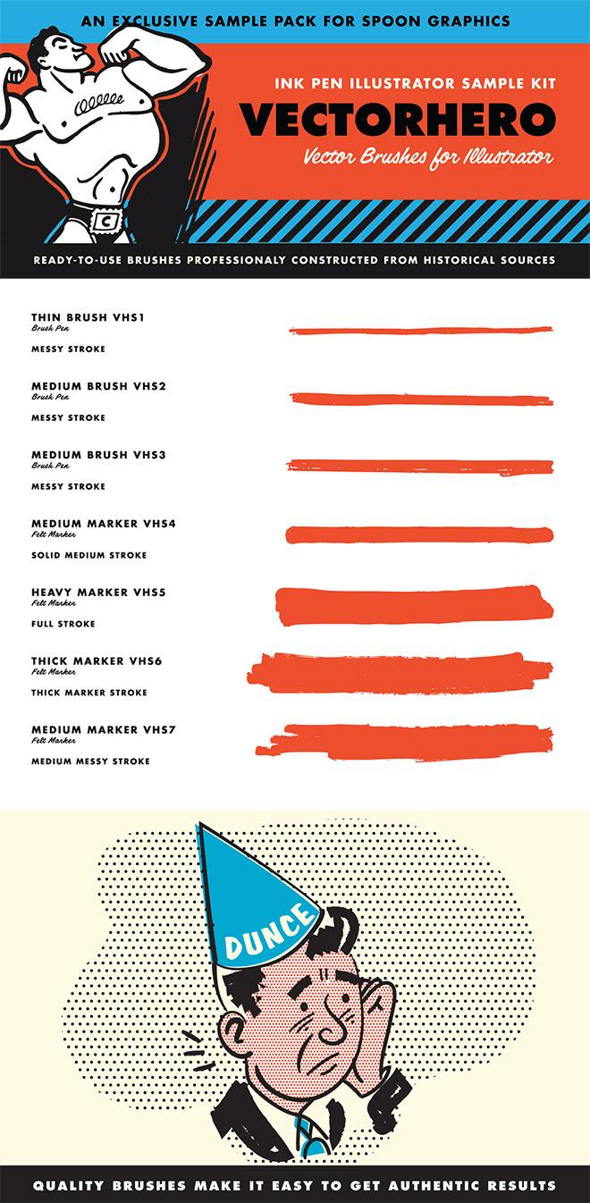 VectorHero Illustrator Brushes