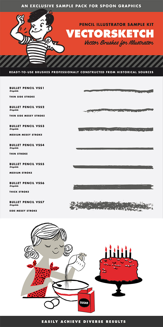 VectorSketch Illustrator Brushes