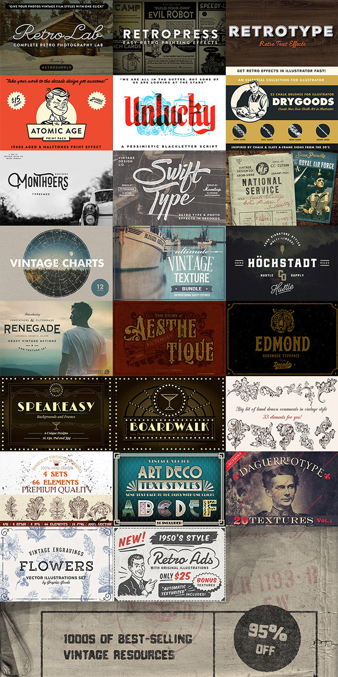 Nail the Vintage Design Aesthetic with These Best Selling Resources