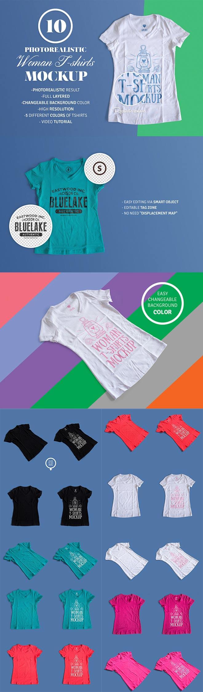 Female T-Shirt Mockup