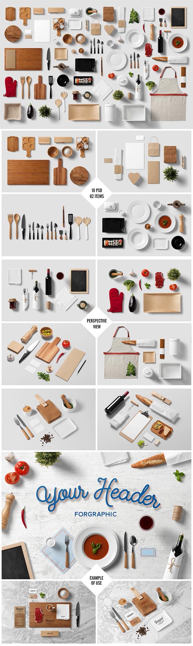 Restaurant / Food – Branding Mock-Up