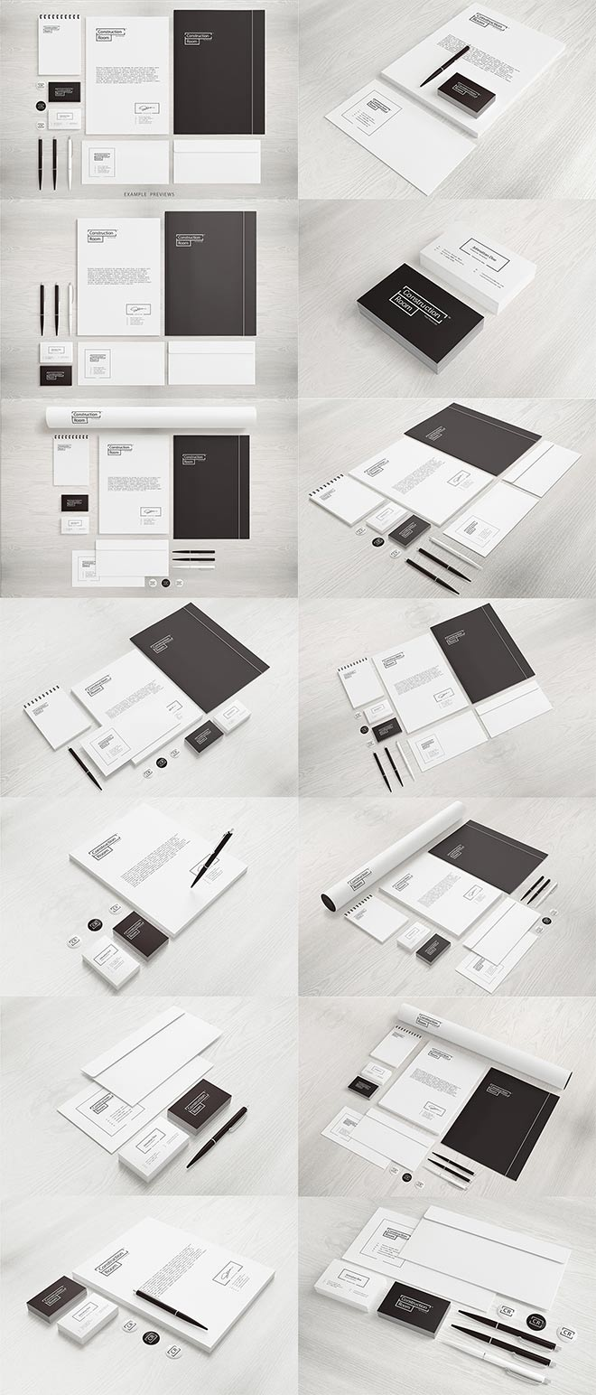 Stationery / Branding Mockups set
