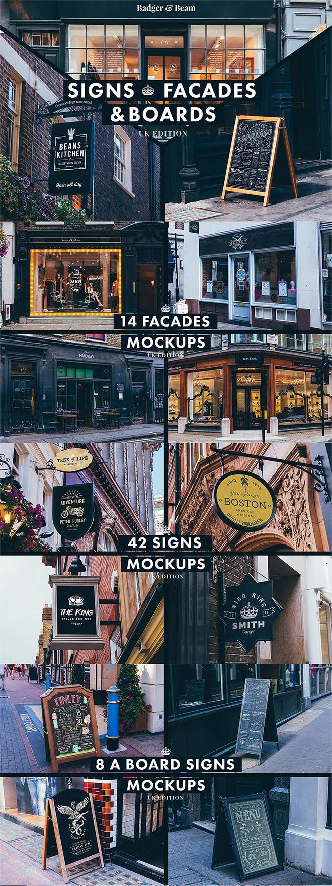 Signs and Facades Mockups