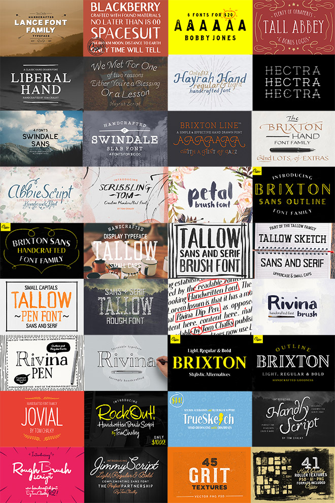 Tom Chalky's Mega Font Bundle