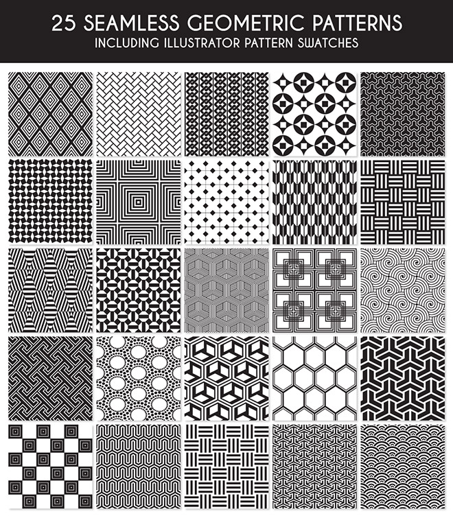 25 Seamless Geometric Patterns