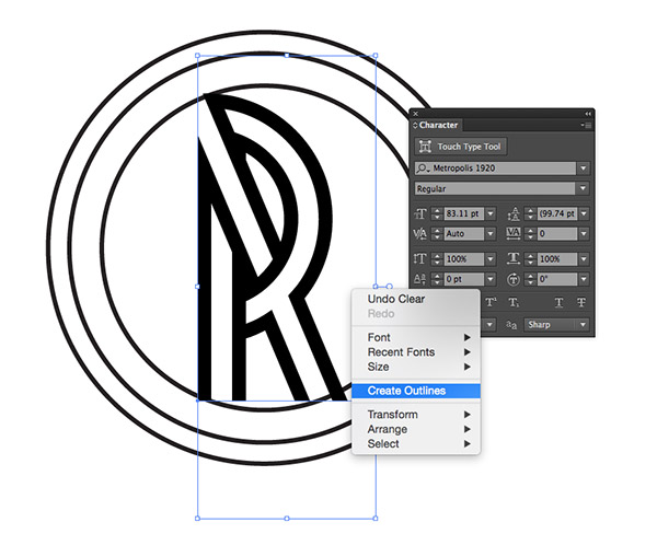 how to draw logo in photoshop