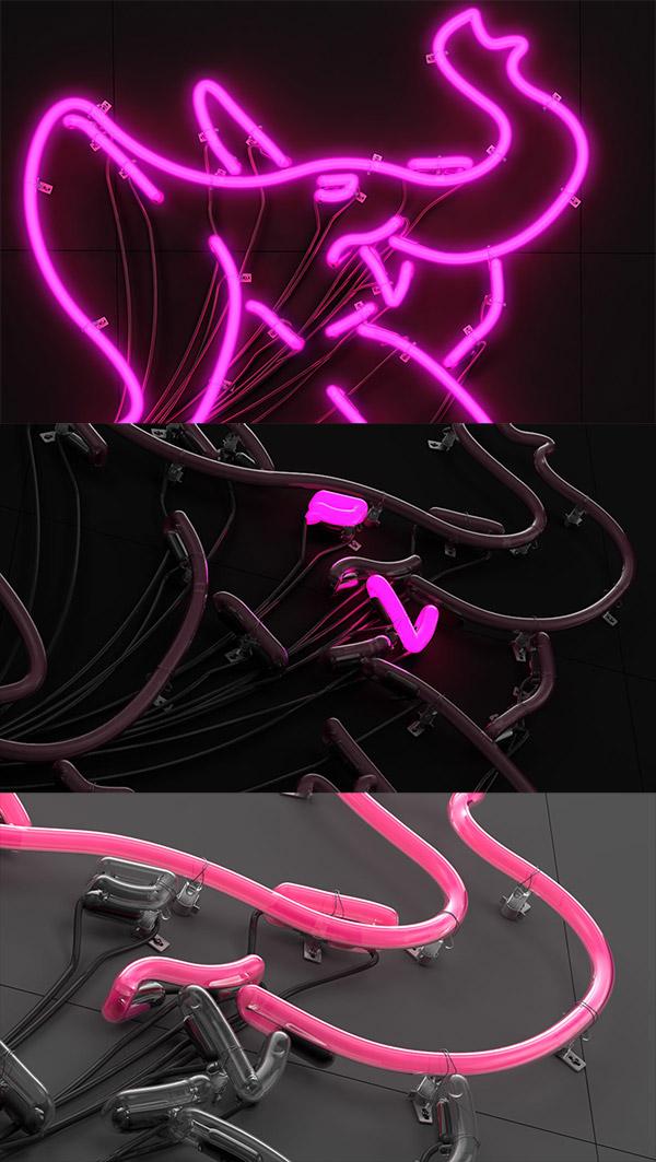 Neon Pink Rio by Vinicius Araujo
