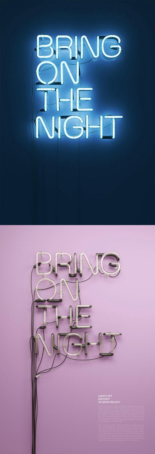 Eristoff Neon Campaign by Rizon Parein