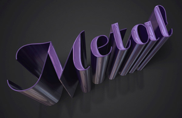 Create a Sleek Metallic 3D Text Effect in Photoshop CS6