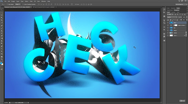 Stylish 3D Text Effect