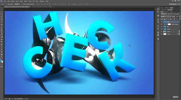 Stylish 3D Text Effect