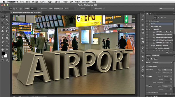 30 tutorials to help you master photoshops 3d tools how to match 3d ground planes with a vanishing point using photoshop cs6 extended ccuart Choice Image