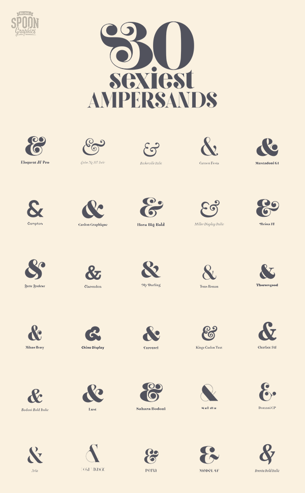 30 Sexiest Ampersands
