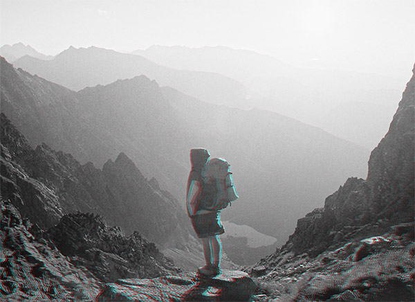 3D Anaglyph photograph