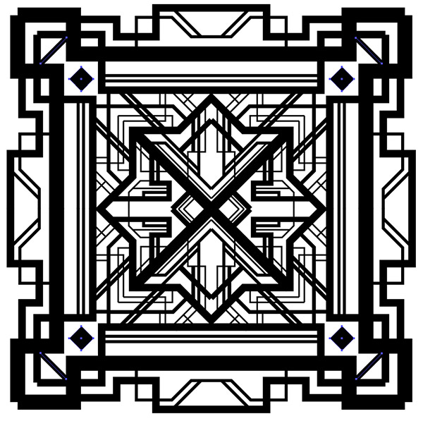 Art Deco Line Design : How to create a great gatsby style art deco pattern