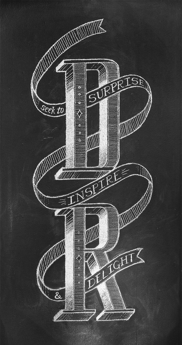 Daniel Richards Chalk Lettering by Chris Yoon