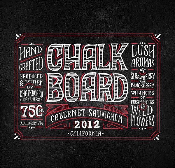 Chalkboard Wine by Joel Felix