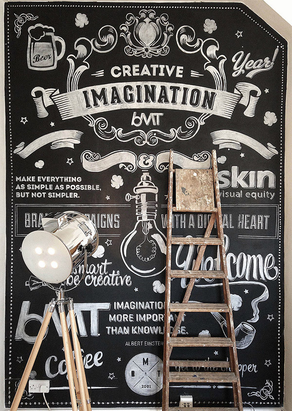 Chalk Wall by BMT London