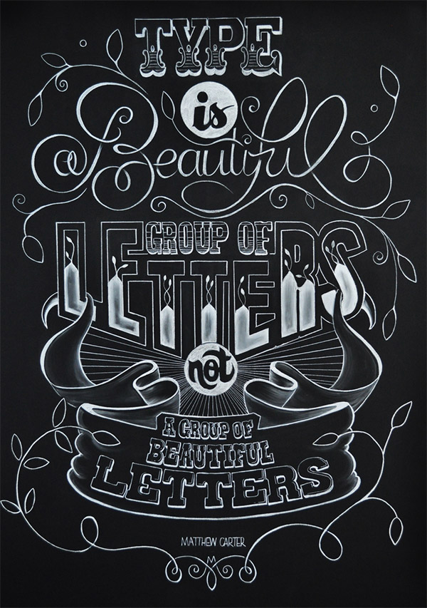 Type is a Beautiful Group of Letters by Libbi Reed