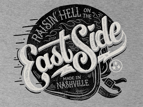 East Side Tee Design by Derrick Castle