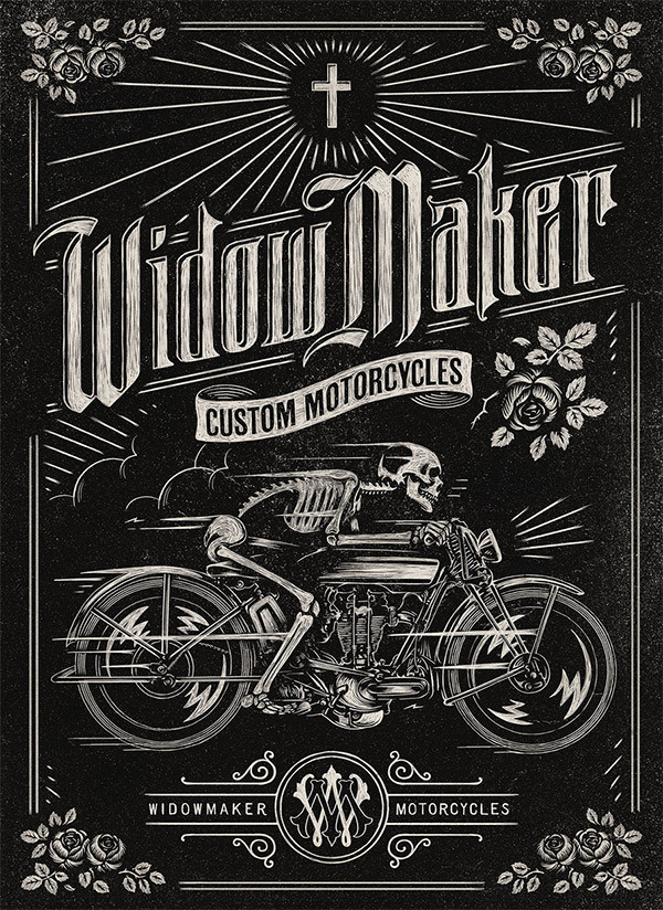 Widow Maker Motorcycles by Aaron von Freter