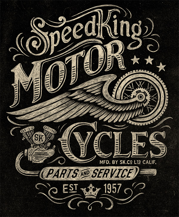 Speed King Motor Cycles by Michael Hinkle