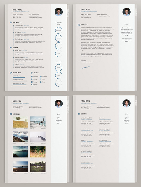 20 Free Editable Cv Resume Templates For Ps Amp Ai