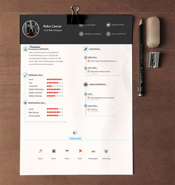 resume cv template free download by raka caesar - Resume Free Download