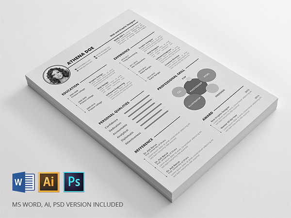 20 free editable cv  resume templates for ps  u0026 ai
