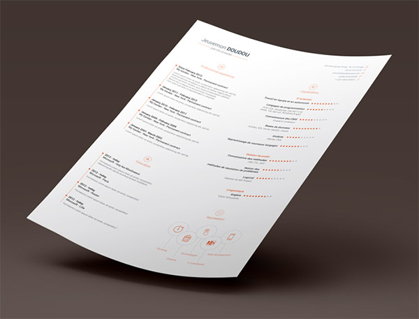 Free Resume Template By Vivien Bocquelet
