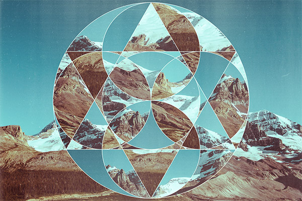 Abstract Geometric Photo Collage Art