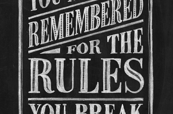 How To Create a Realistic Chalk Lettering Effect
