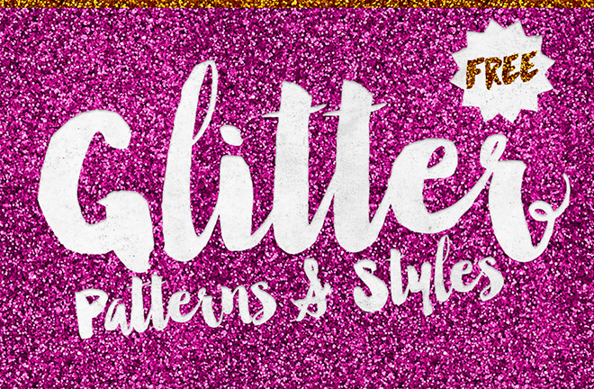 8 Free Glitter Effect Patterns & Styles for Photoshop