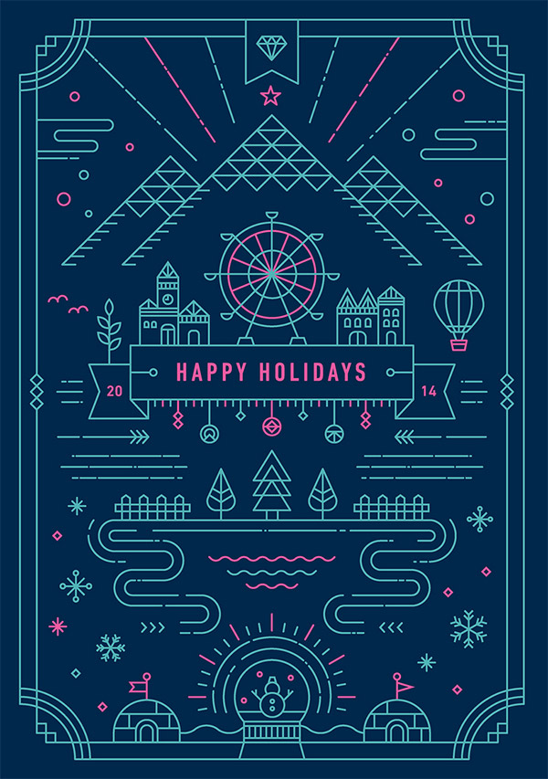 Holiday Greeting Card by Yiwen Lu
