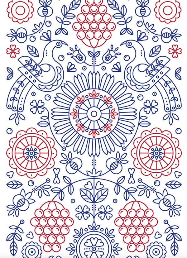 Ethnic Pattern by Maria Pastykh