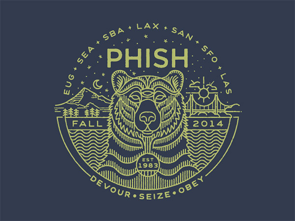 Phish Fall Tour Shirt by Brian Steely