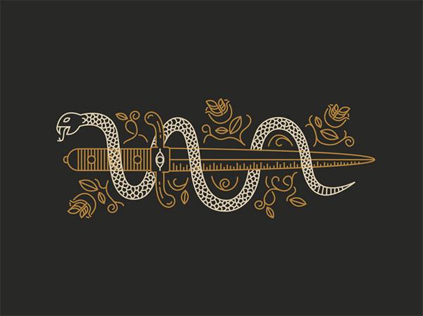 Snake & Dagger by Benjamin Garner
