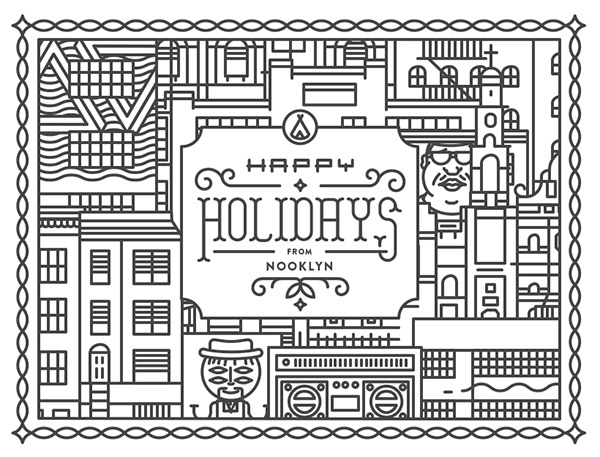 Nooklyn Holiday Card by Daniel Haire