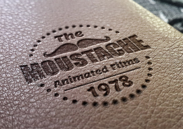 Leather Stamping Logo Mockup