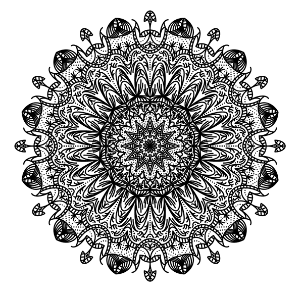 coloring pages intricate patterns illustrator - photo#6