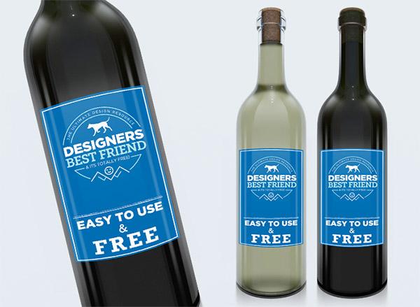 Free Wine Label Mock Up