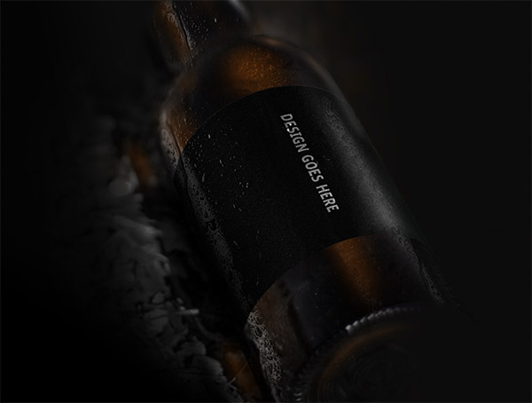 Beer Bottle Mockup Freebie