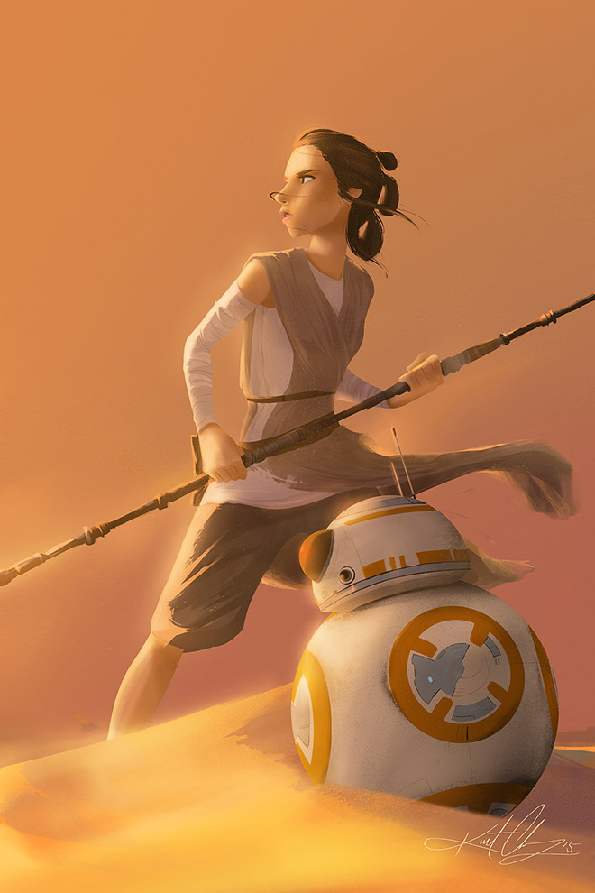Rey & BB8 by Kurt Chang