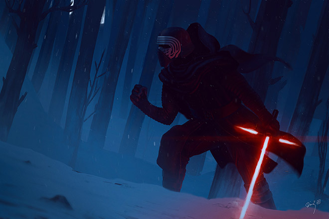 Kylo Ren Fan Art by Dimz