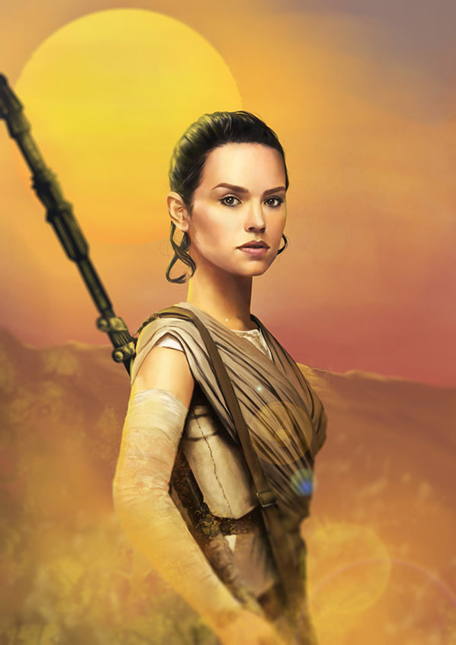 Rey / The Force Awakens by denkata5698