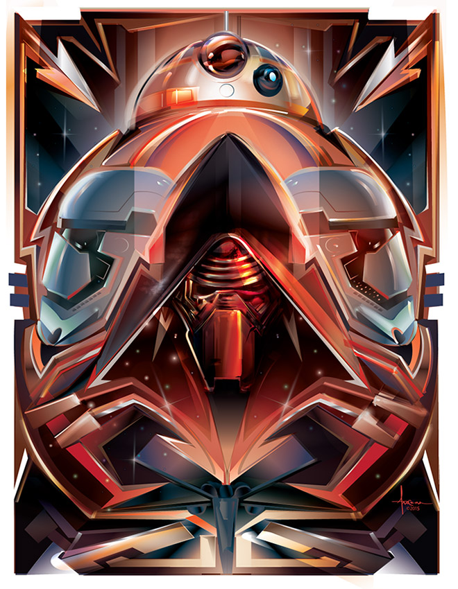 Star Wars Art Awakens Vector