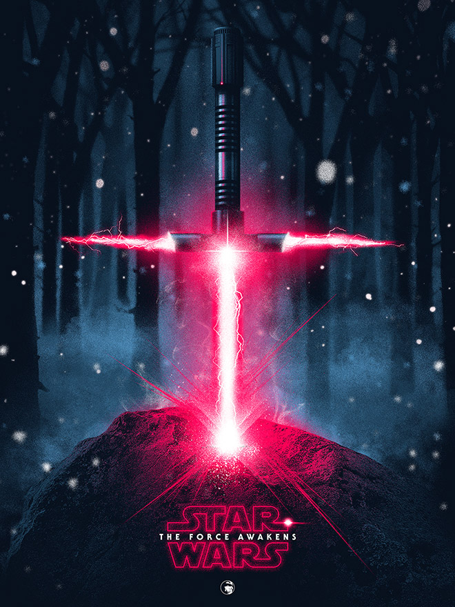 Star Wars - A Lightsaber in Stone by Patrick Connan