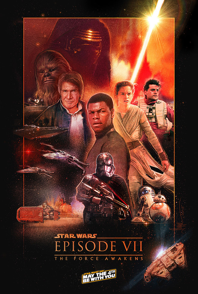 Star Wars: The Force Awakens Concept Poster by Paul Shipper