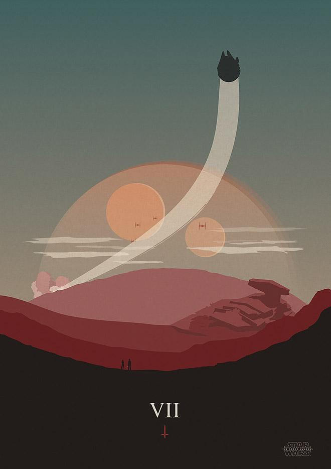 Star Wars: The Force Awakens Alternative Poster by Matt Harvey