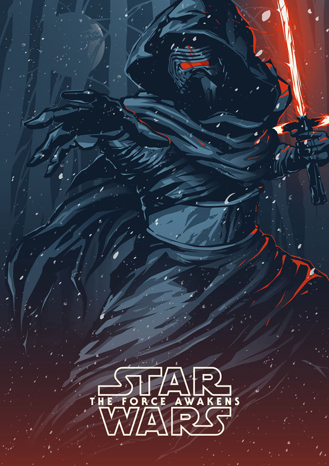 Kylo Ren: Star Wars The Force Awakens by Shulyak Braddthe ideaionals